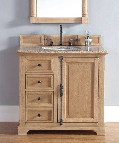solid wood bathroom vanity